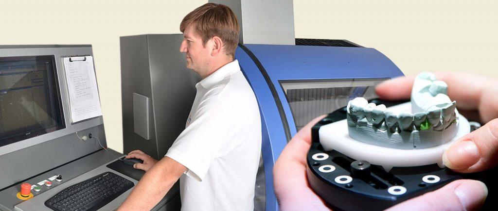 Ob CAM-Fräsmaschinen, 3-D-Drucker, Intraoralscanner oder digitale Behandlungsplanung: Wir leben den digitalen Workflow.
